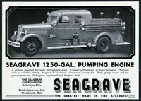1945 Seagrave fire engine enclosed cab truck photo vintage print ad