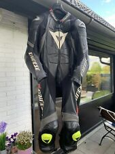 Dainese Laguna Seca Einteiler Schwarz Race Leder  Gr.54 Motorradkombi Lederkombi