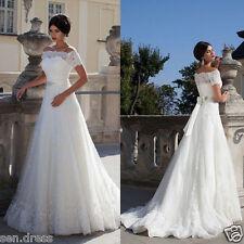 New White/ivory Wedding Dress Bridal Gown Custom Size 4 6 8 10 12 14 16 18+++