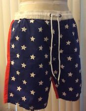 New Men's Tropicalia Red White Stars & Blue Shorts Size M 32 NWT 4th of July