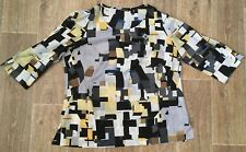 LISA HO LADIES SIZE 24 BLOUSE SHIRT SHORT SLEEVE ~ EUC