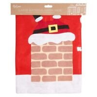 Giant Christmas Santa Sack 90 x 60cm Xmas Gift Present Felt Stocking Bag CHIMNEY