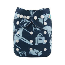 ALVA Baby One Size Cloth Diaper Reusable Pocket Diaper With 1Insert For Boys