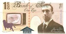 1 Ego, Bank of Shed, private issue, POLYMER, fantasy note, Walt Dysney