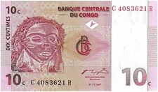 Congo ten cents banknote 1997 uncirculated genuine for collectors (69)