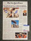 Navy SEAL Robert O'Neill Killed Bin Laden New York Times Print Signed 11x17 PSA