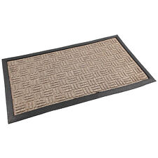 Firth Tile Design 40x70cm Brown Entrance Indoor Mat Dirt Grabber Floor Protector