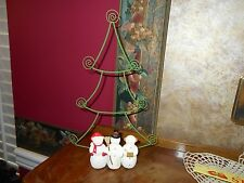"Hallmark Snowmen Snowman Card Holder Christmas Tree Decoration Metal 12"" Figure"