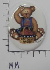 / Oval 30x40 - by each Sale 70242 Porcelain - Bear sitting - American Flag