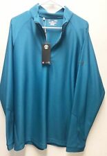 Under Armour UA Golf Outerwear Pullover Half Zip Blue Green Large