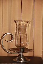 Baldwin Hurricane Lamp Brushed Nickel Vintage Candle Holder