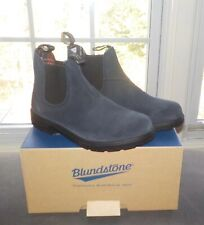 Blundstone Suede Boots Toddler Boys Leather Shoes Indigo Blue Youth AU 1 2 3 NIB