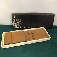 Vintage Prince Gardner Registrar Men's Tan Leather Bi-Fold Wallet *New*