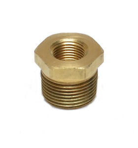 3/4 Male to 3/8 Female Npt Brass Pipe Reducer Bushing Fitting Water Fuel Gas Oil