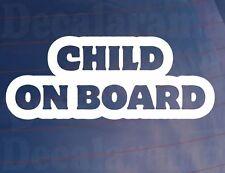 CHILD ON BOARD Novelty Vinyl Car/Van/Bumper/Window Parents Sticker/Decal