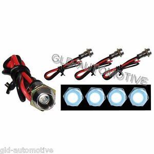 KIT 4 Screw LED per Interni Auto  - Illuminazione estetica - SIMONI RACING
