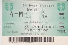 Sammler Used Ticket / Entrada FC Dordrecht v Excelsior Rotterdam 30-01-2004