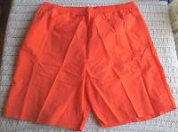 NWT Mens 3X/4X Tall Board Shorts Swim Trunks Orange KING SIZE Lined Pockets