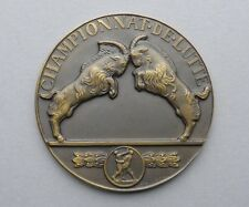 French, Wrestling Victory Medal. Goat. France. By Mascaux.