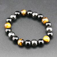 Naturel noir STONE hexagonale Jujube Bracelet Radiation protection de soins de santé