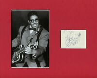 Bo Diddley R&B Blues Singer Guitarist Rare Signed Autograph Photo Display