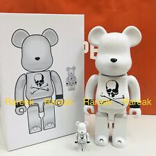 Medicom Be@rbrick 2020 Mastermind Japan White Chrome 400% + 100% bearbrick set