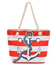 New Anchor Canvas Beach Boating Tote Handbag