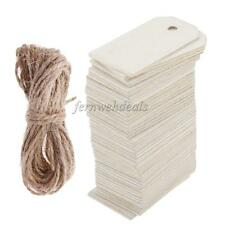 50pcs Unfinished Wood Tags Wooden Gift Tags for Wedding Party Favors White