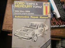 Haynes Repair Manual Ford Tempo & Mercury Topaz 1984 through 1994