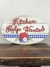 """THE PIONEER WOMAN """"KITCHEN HELP WANTED""""  20"""" Wall Decor"""