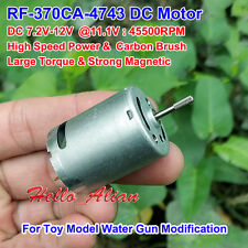 DC 6V~12V 50000RPM High Speed Strong Magnetic Carbon Brush RF-370CA DC Motor DIY