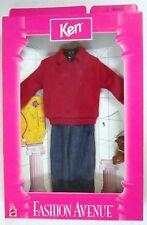 Ken (Boyfriend of Barbie) Fashion Avenue Red Shirt and Jeans Ensemble (NEW)