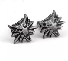 Witcher 3 Wolf Head Silver Cufflinks Formal Wear for Shirt Suit Novelty Party