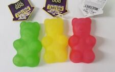 (Set of 3) Vinyl Candy Cubs (Gummy Bear Design) Squeaking Dogs Toys In 3 Colors
