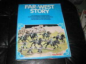 Vintage 1970s Atlantic HO Scale Figures Far West 1559 Confederate Cavalry