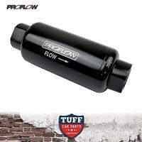 Proflow 40 Micron -10AN Black Billet Reusable Fuel Filter Stainless Element -10