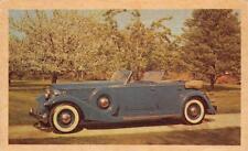 1933 PACKARD Sport Phaeton Vintage Automobile Classic Car Advertising Postcard