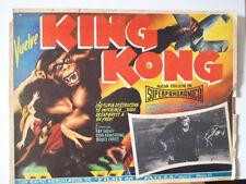 ALL SCY FICTION/ KING KONG  RES/FAY WRAY/1933/MEXICAN LOBB