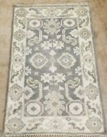 3'X 2' SELECT HAND-KNOTTED TURKISH OUSHAK TRIBAL VINTAGE WOOL DURABLE RUG CARPET