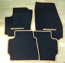 Autoteppich Fußmatten  für Ford Mondeo 2000' - 2006' schwarz cremebeige Neuware