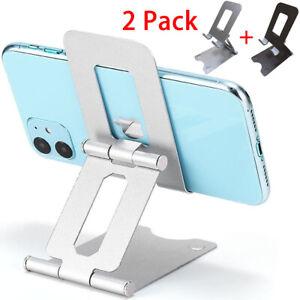 2-Pack Universal Metal Adjustable Foldable Cell Phone Tablet Desk Stand Holder