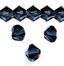 CB416e Montana Blue 6mm Faceted Bicone Cut Crystal Glass Bead 25pc