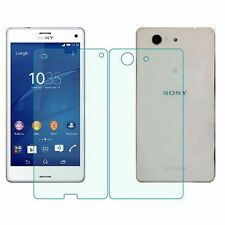 Bulletproof Glass for Sony Xperia Z1 Compact Mini Display + Back Side Glass Film