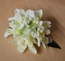 Hawaiian Luau Wedding Party Ladies Silk Off White Turborose Flower Hair Clip