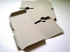 50 Natural recycled card Double CD sleeves/wallets Unbranded (Flat)