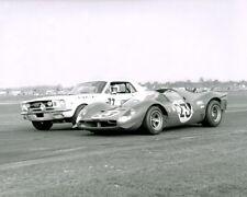 Vintage 8 X 10 1967 Daytona 24 Ferrari 330 P4 Winner & Mustang Racing Photo