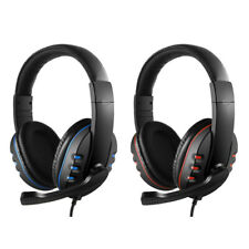 3.5mm Wired Gaming Headphones Headset Noise Canceling Earphone for PC W/mic O8J9