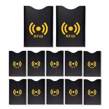 S/O® 12er Set Kartenschutzhüllen RFID Blocking NFC Schutzhülle Ausweis Bankkarte