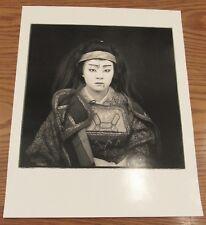 SIgned Hiroshi Watanabe photograph Eri Tanaka Tono Kabuki 16x20