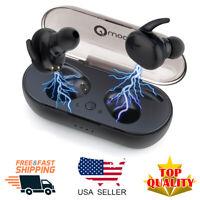 TWS Mini True Wireless Earbuds Bluetooth Twins Stereo Earphone In-Ear Headset US